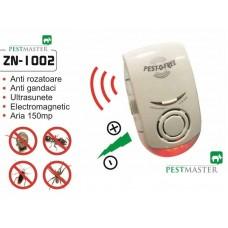 Aparat cu ultrasunete si unde electromagnetice impotriva gandacilor - Pestmaster ZN1002 - 150 mp