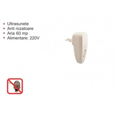 Aparat cu ultrasunete impotriva rozatoarelor (soareci, sobolani) MouseStop