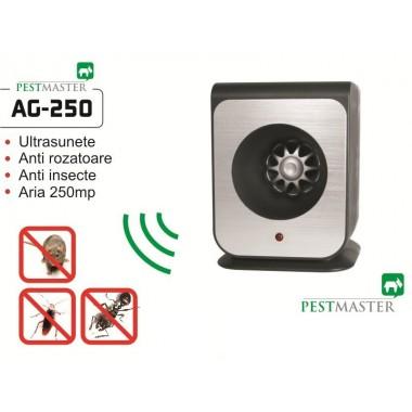 Aparat cu ultrasunete impotriva gandacilor , a soarecilor, capuselor si altor insecte taratoare - Pestmaster AG250 - 250 mp